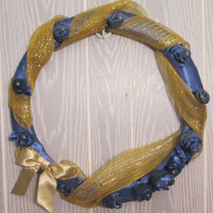 Other - HANDMADE CHRISTMAS BLUES WREATH DECOR ONLY
